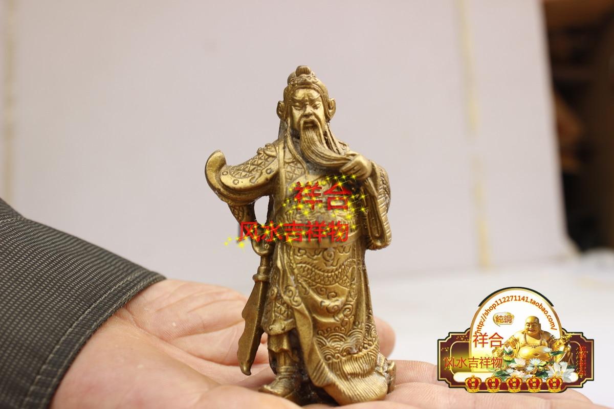 Copper Guan Gong font b knife b font Fortuna Wu Guan Erye Zhaocai font b knife