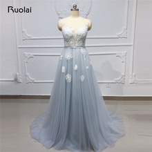 Ruolai Elegant Evening Dresses 2019 A-Line Prom Dress