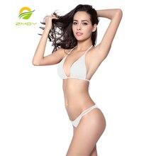 ZMDY Top Closured Bottom 2016 Brazil Butt Bikini for women Bikinis set Women Beach Plus Size Swimwear Bathing Suit Thongs