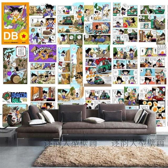 Free Shipping Custom Wallpaper Dragon Ball Manga Cartoon Wallpaper Bedroom Large Mural Background Wall Mural Wallpaper