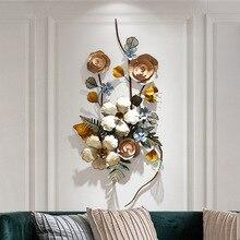 Европейские Железные цветы, украшение для гостиной, большой 3D Железный цветок, Металлический Настенный декор, украшение для дома, скандинавский Декор