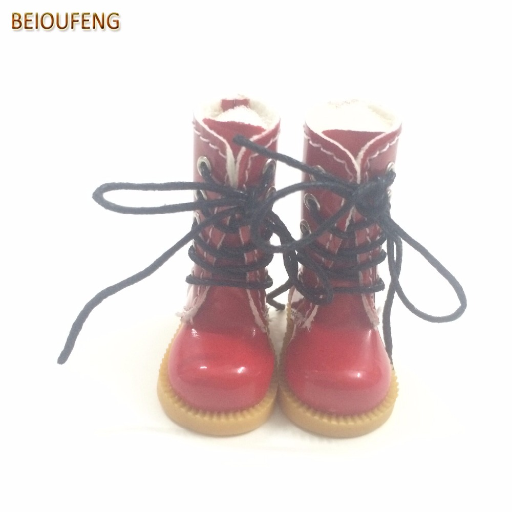 BEIOUFENG 1/8 BJD Doll Shoes High Boots for Dolls,3.8CM Sneakers for Dolls,1/8 Mini Leather Doll Boots for Blyth Azone 6 Pair exclusive shining boots for bjd 1 3 sd17 uncle ssdf id ip eid big foot doll shoes sm7