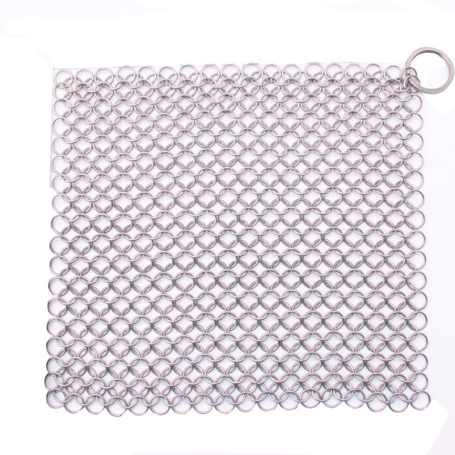 2017 Hot SellingFinger Iron Cleaner Stainless Steel Chainmail Scrubber Kitchen Tool jul21