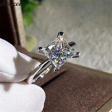 Choucong принцесса обещающее кольцо 925 пробы серебро AAAAA Циркон cz Обручальное кольцо кольца для женщин Свадебные Лучшие ювелирные изделия