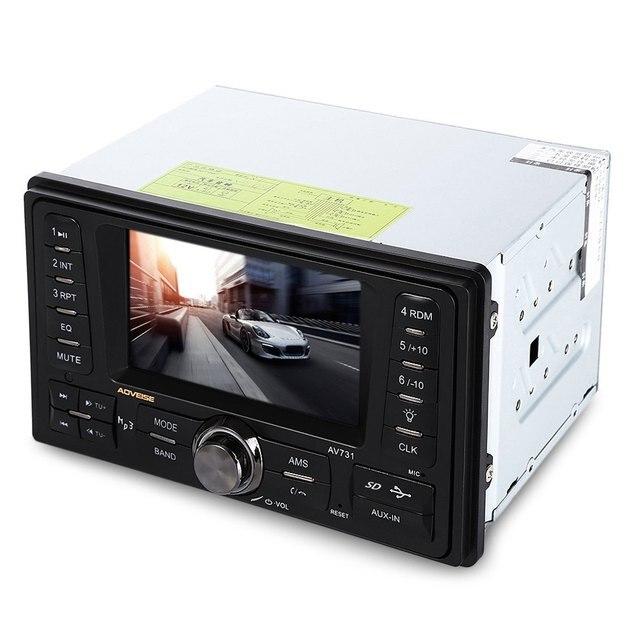 AV731 2 Din Автомобильный Радиоприемник Плейер MP4 Mp5-плеер Стерео Радио FM/Аудио/USB В Тире Радио Плеер поддерживает Заднего Вида Камера SD Карты