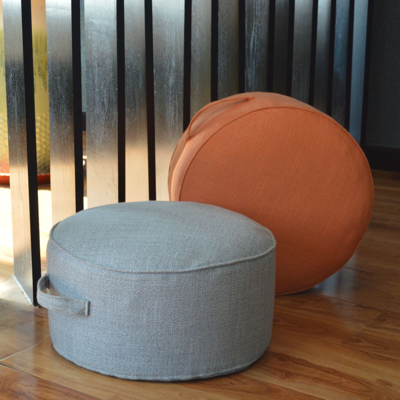 Futon chair cushion tea ceremony washable lintn cotton cloth thickened round pond cushion