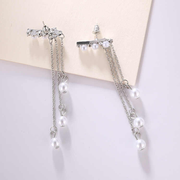 2018 New Earrings Fashion Jewelry Temperament Long Tassel Earrings For Women Female Pearl Pendant Earrings Personality
