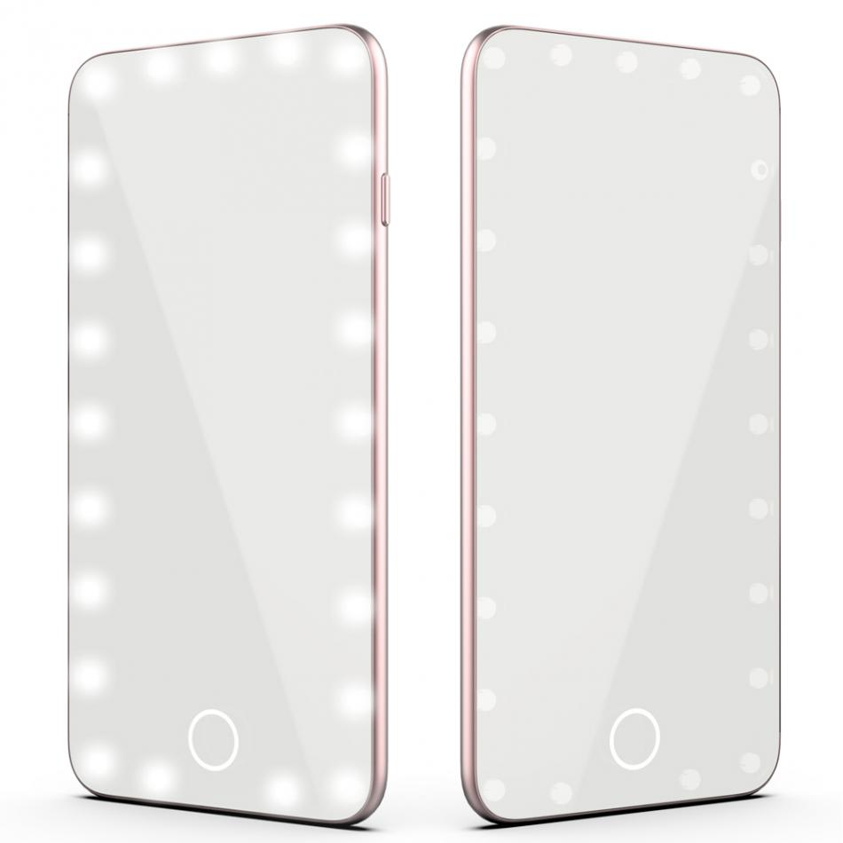 USB Touch Screen Makeup Mirror Professional LED Smart Mirror With 23LED Light Beauty Cold Light Dimmable Cosmetic Makeup Mirror 38 in 1 professional cosmetic makeup lipstick plate w mirror multicolored