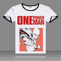 Hot Anime One Punch Man T-shirts Black O-Neck Short Sleeve Tops Fashion Saitama Printed Genos Tees for Summers 4