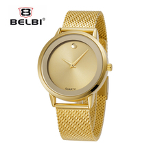 Señoras del reloj de oro Relojes de Pulsera Mujeres Pulsera de Oro reloj de Plata Reloj Mujer Del Relogio Moda Marca Aleación de Acero Hodinky Ceasuri 47
