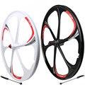 26-дюймовые колеса для горного велосипеда  колеса из алюминиево-магниевого сплава с 6 спицами  быстросъемные колеса  легкие велосипедные кол...