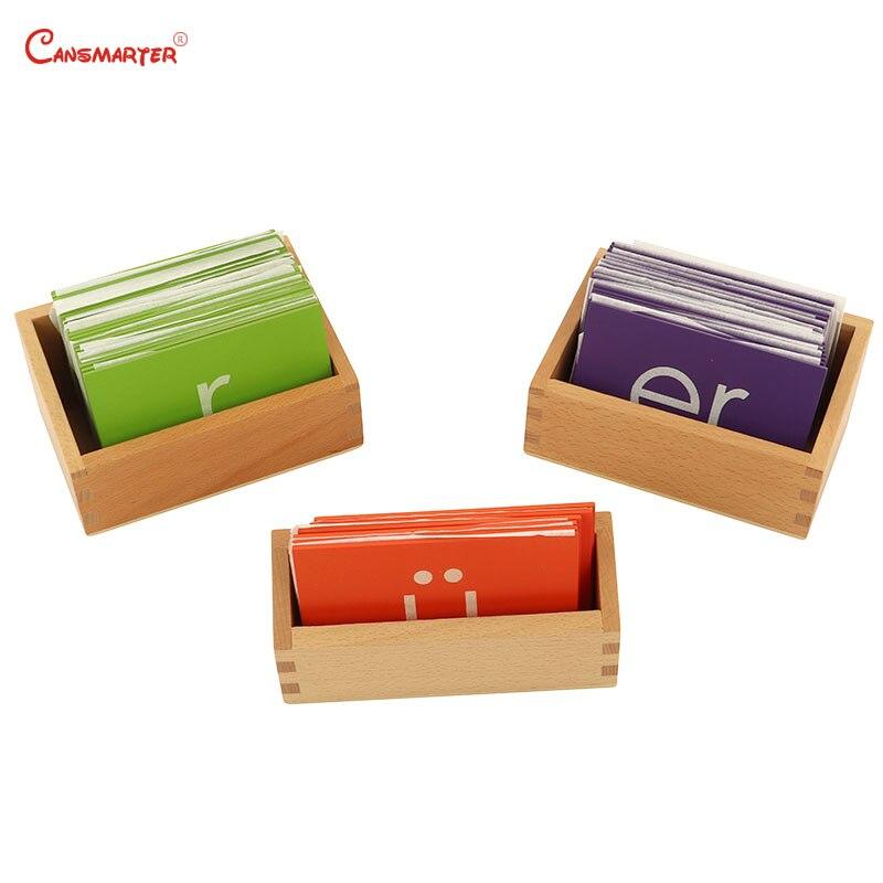 Montessori chinois papier de verre langue aides pédagogiques jouets apprentissage bébé hêtre boîte en bois début boîte éducative jouets enfants LA047-3