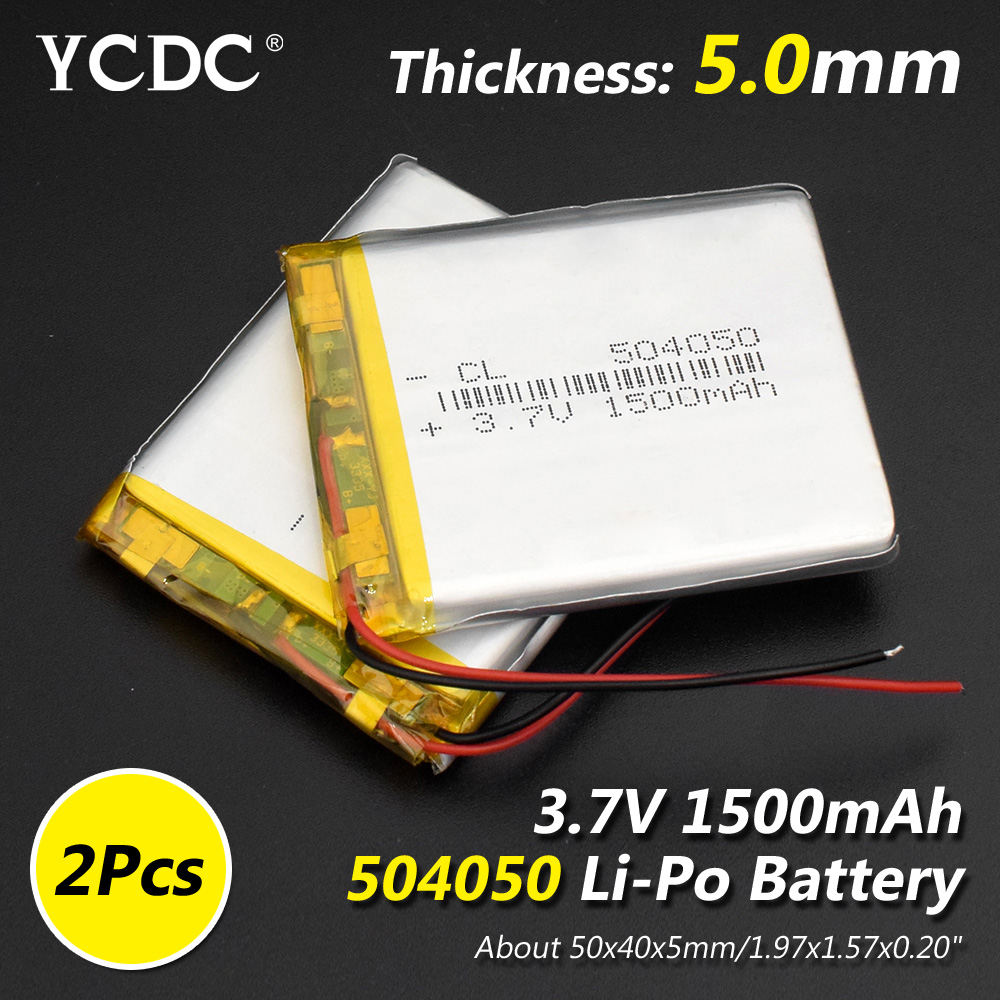 Size 504050 3.7v 1500mAh Li-ion Lipo Cells Lithium Li-Po Polymer Rechargeable Battery For Bluetooth Speaker PDA DVR GPS Notebook