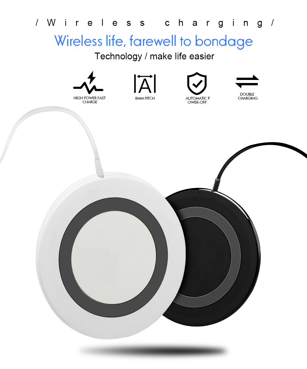 Ascromy 10W Fast Wireless Charging Pad For Samsung Galaxy S9 Plus S8 Note 8 7.5W For iPhone X 8 Plus Waterproof Mini Qi Charger (1)