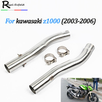 Motorcycle exhaust pipe z1000 Shipping Slip On Mid Pipe Race Exhaust For Kawasaki Z1000 2003 2004 2005 2006