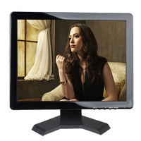 1024*768 touch lcd monitor 15 inch touch screen computer monitor with 4 wire resistive touch screen AV/BNC/VGA/HDMI/USB input