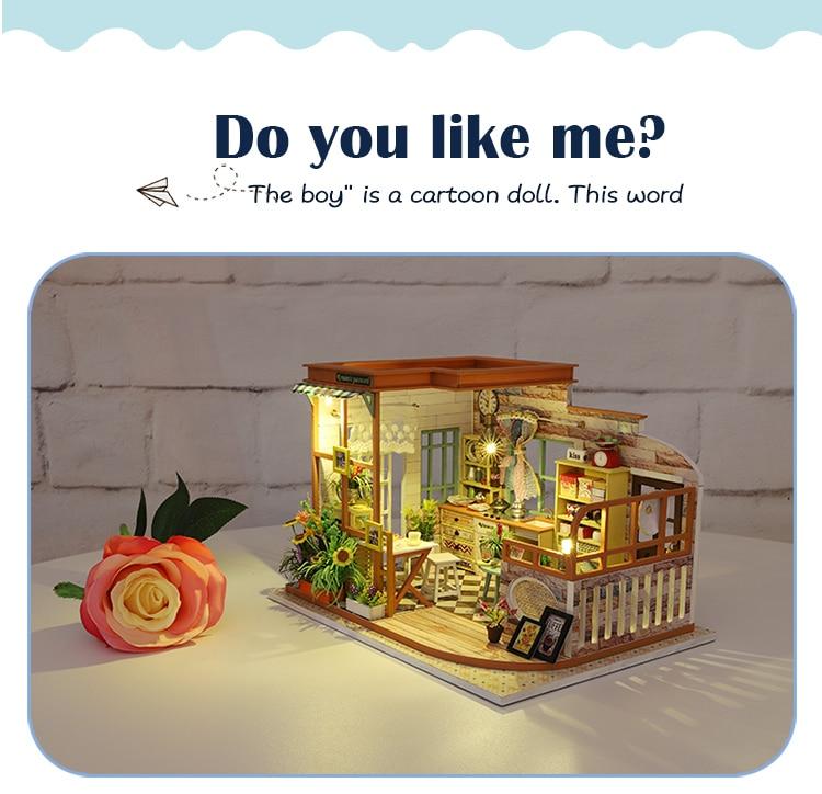 Cutebee Romantic Password DIY Dollhouse