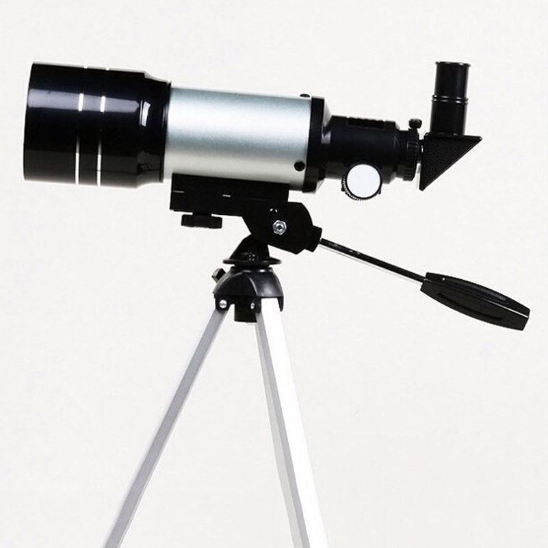 Professional Astronomical Monocular Telescope F30070M Silver with Tripod Barlow Lens Eyepiece Moon Filter For Astronomic Space стоимость