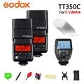 GODOX 2x TT350C 2 4G Беспроводной 1/8000s GN36 ttl HSS TT350-C софтбокса Speedlite Flash карманные фонари + Xpro-C передатчик для Canon Камера