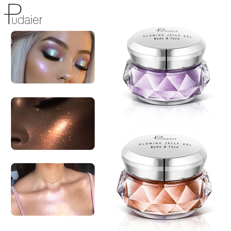 Lower Price with Pudaier Hot Jelly Gel Highlights Powder 3d Face Persistent Body Highlight Paste Mermaid Eye Shadow For All Skin Beauty Essentials