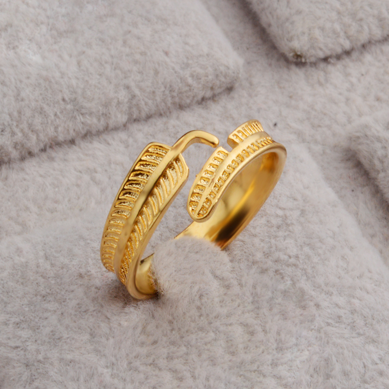 PATICO Wholesale fashion Leaf Feather Style la s wedding Rings