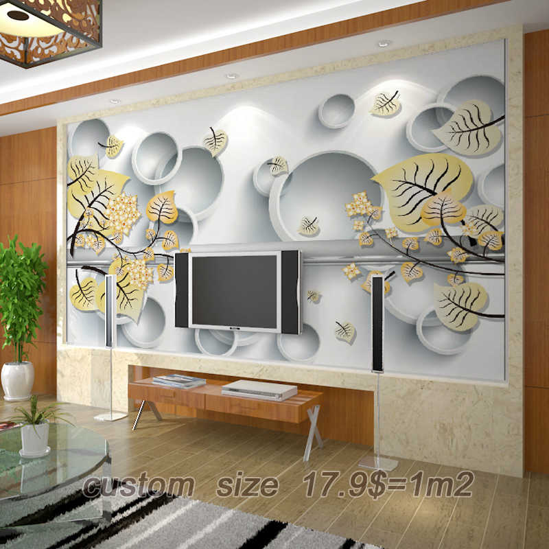 Free Shipping Modern 3D Design Minimalist Living Room Sofa TV Background Wallpaper Floral Murals Restaurant Custom