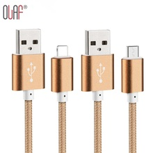 Nylon Braided Micro USB Cable Data Sync Charging Cable for iPhone 5 5s 6 6s plus ipad 4 Samsung Galaxy HTC Xiaomi Mobile Phones