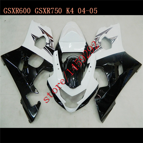 For Black/White K4 04 05 A GSX-R600 GSXR600 HOT mold <font><b>GSXR</b></font>-<font><b>600</b></font> <font><b>GSXR</b></font> <font><b>600</b></font> <font><b>2004</b></font> 2005 Body Fairings image