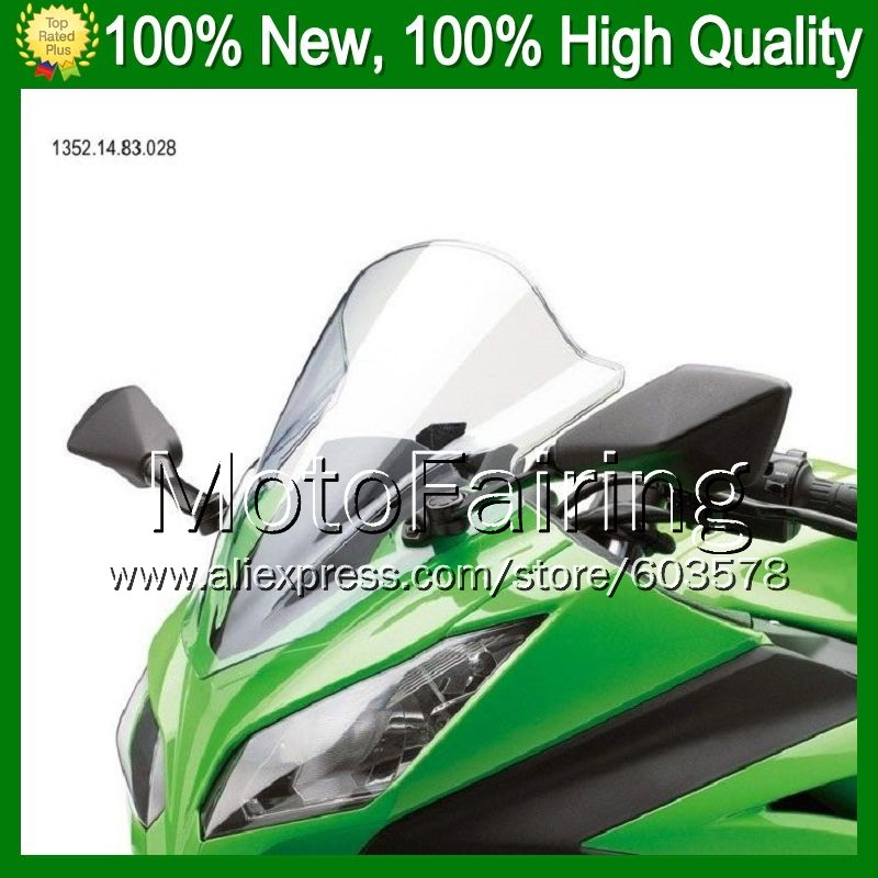 Clear Windshield For KAWASAKI NINJA ZX250R 08 12 ZX 250R ZX 250 ZX250 2008 2009 2010