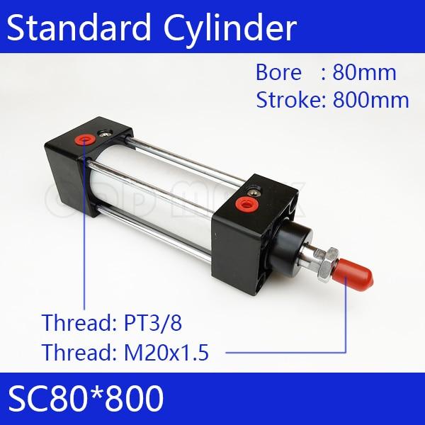 SC80 * 800 Бесплатная доставка Стандартные цилиндры воздуха SC80-800 клапан 80 мм диаметр 800 мм ход одноместный род двойного действия пневматический цилиндр