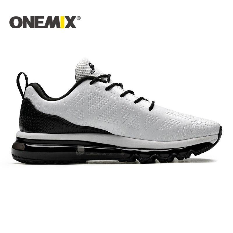ONEMIX 2019 nouveaux hommes chaussures de course en cuir coureur athlétique baskets Air coussin chaussures de course pour hommes chaussures de marche en plein Air hommes - 3