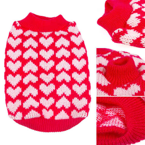 New Dog Clothes Sweate Christmas BEST Gift Small Pet Dog Cat Winter Warm Knitwear Puppy Coat Outwear Apparel