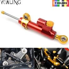 цена на golden color universal motorbike hyperpro steering damper CNC Aluminum steering damper stabilizer linear reversed safety control