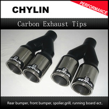 2.5 inch Inlet Universal Remuse Car Exhaust Tips 304 Stainless Steel Automobile Dual Tips Exhaust Muffler Pipe