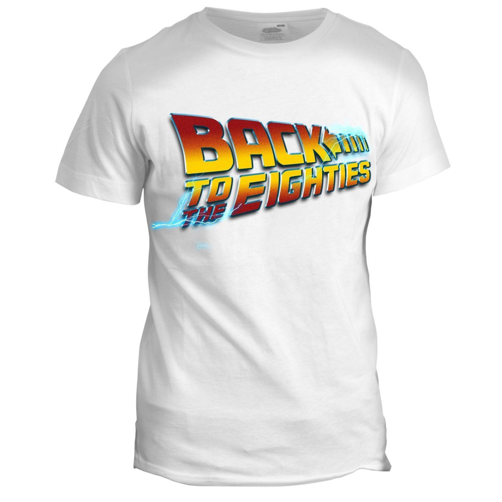 Back To The 80s Mens Dad Birthday 80th Back To The Future Movie Grandad T Shirt Print Casual T-Shirt Men Brand Top Tee