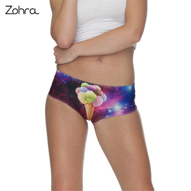 on sale e704c 0e3a3 US $3.49 30% OFF|Zohra Alien Kegel 3D Druck Slips Unterwäsche Dessous  Frauen Panty Sexy Tanga Ropa Interior Mujer Bragas Culotte Femme Höschen in  ...