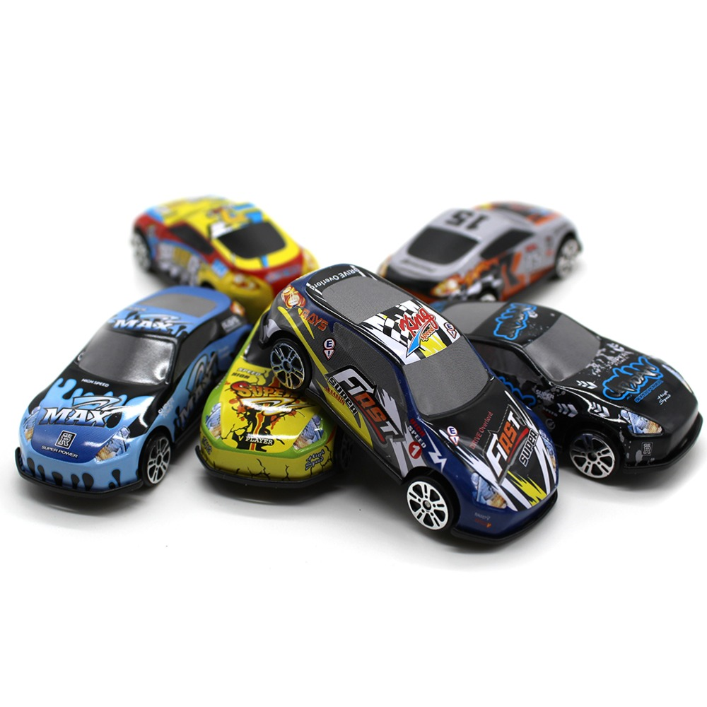 SUN & CLOUD 6 Pcs/Set Mini Metal Alloy Toys Baby Toys Model Cars Toy Wheels Car Model Funny Kids Toys for Boys Children