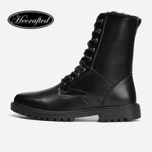2018 Men boots safety work winter Hecrafted Brand Cow Split Leather snow #ZW1198JM