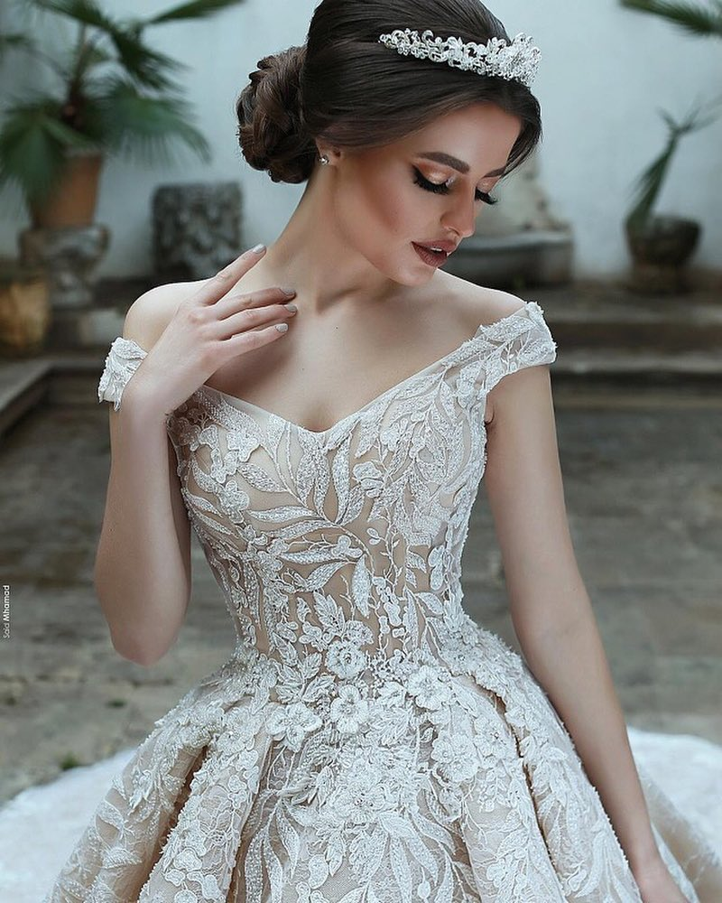 Eslieb Luxury High-end Custom made lace Wedding dress 2019 Ball Gown V-neck wedding  Dresses Vestido de Noiva Bridal Gown - Fortuna Brands 13527f11cbea