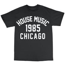 House Music Chicago 1985 T-Shirt 100% Cotton Frankie Knuckles Larry Levan Funny Tops Tee New Unisex Funny Tops free shipping larry brown facing the music