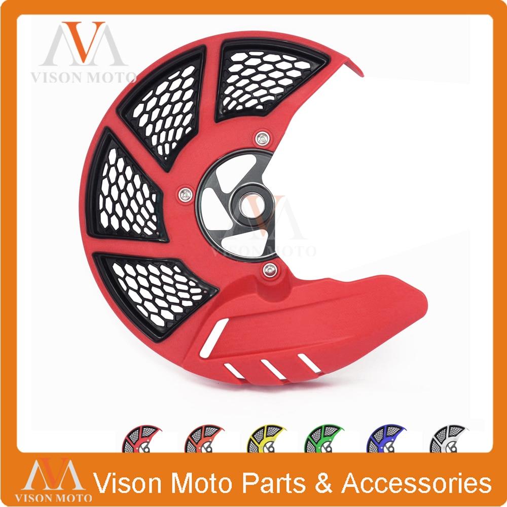 цены на Front Brake Disc Rotor Guard Cover Protector For HONDA CR125R CR250R 04-07 CRF250R CRF450R 04-16 CRF250X CRF450X 2004-2017 в интернет-магазинах