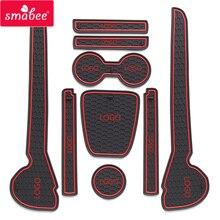 smabee Automobile Gate slot pad  For 11-16 Volkswagen Polo Polo GTI Dust mats Water Coaster Non-slip mats Auto Accessories