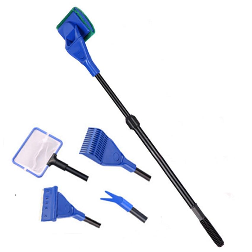 sunsun Aquarium cleaning tool 5 in 1 multifunctional cleaning brush aquarium tank rake seaweed plants clip fishing skimmer