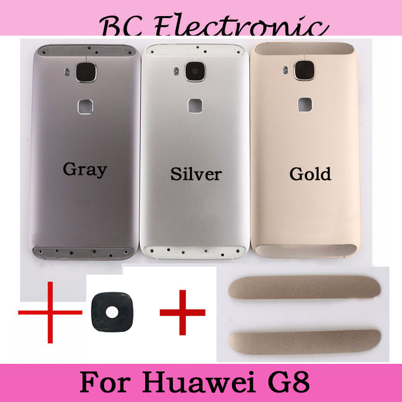 Gray Silver Gold With Back camera glass Back Battery Housing Door Assembly+Power Volume Button For Huawei G8 Back Cover Case