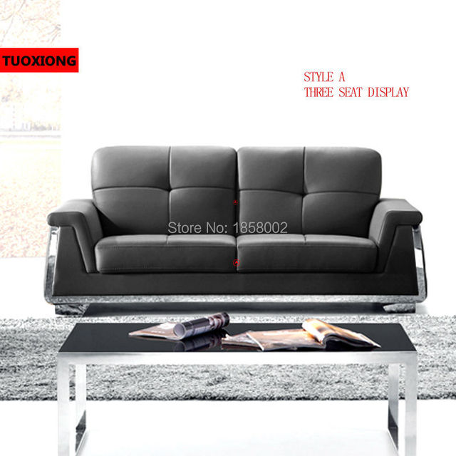 Modern Genuine Leather Sofa Supplier Furniture Manufacturers Coffee Table Combination Set Office Chair