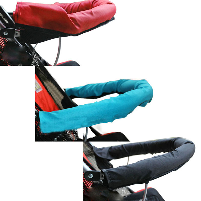 5 Colors Baby Stroller Pushchair Front Handle Baby Accessories Armrests Cover Baby Stroller Armrests Stroller Accessories