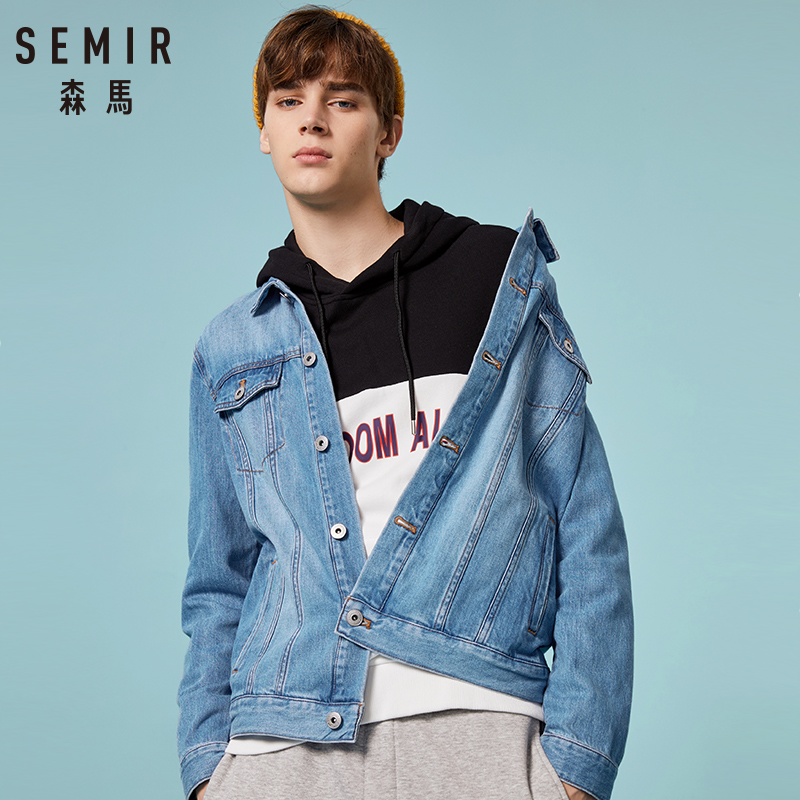 SEMIR Denim Jacket Men Jaqueta Masculino Cotton Clothes Fashion Jackets Streetwear Spring Classic Chaqueta Hombre