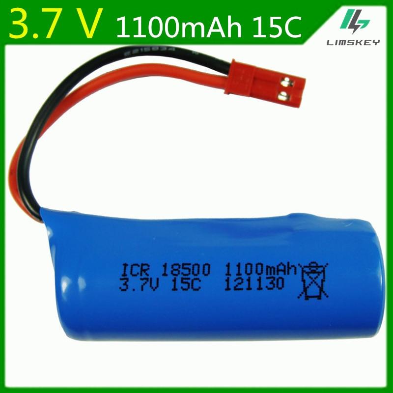 3,7 V 1100mAH Lipo batería para FT008 H227-33 helicóptero de control remoto JST enchufe Lipo batería 3,7 V 1100mAH 18500 15C S900