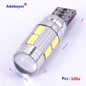 Image 2 - 100 pcs/lot T10 canbus led 10 SMD 5630 Chip 501 W5W 194 Error Free Car LED Lens Indicator Wedge Dome Light Bulb Lamp car styling