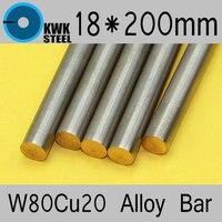18 200mm Tungsten Copper Alloy Bar W80Cu20 W80 Bar Spot Welding Electrode Packaging Material ISO Certificate